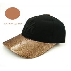 gold sequined cap