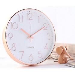 30cm rose gold round clock??warranty 1 year)