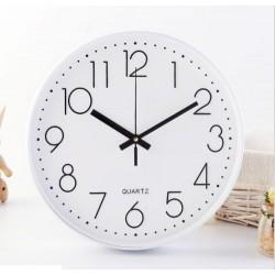 30cm white round clock??warranty 1 year)